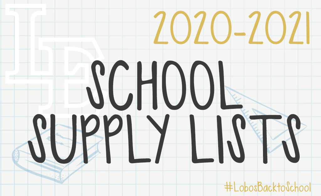 School Supply Lists for 2020-2021 School Year