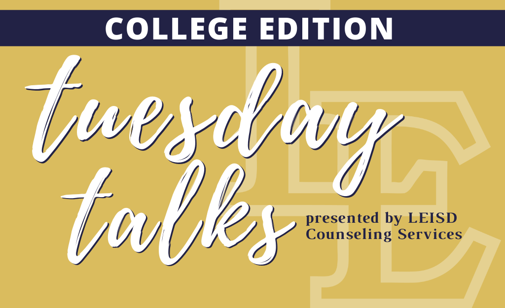 Tuesday Talks College Series: Scholarships