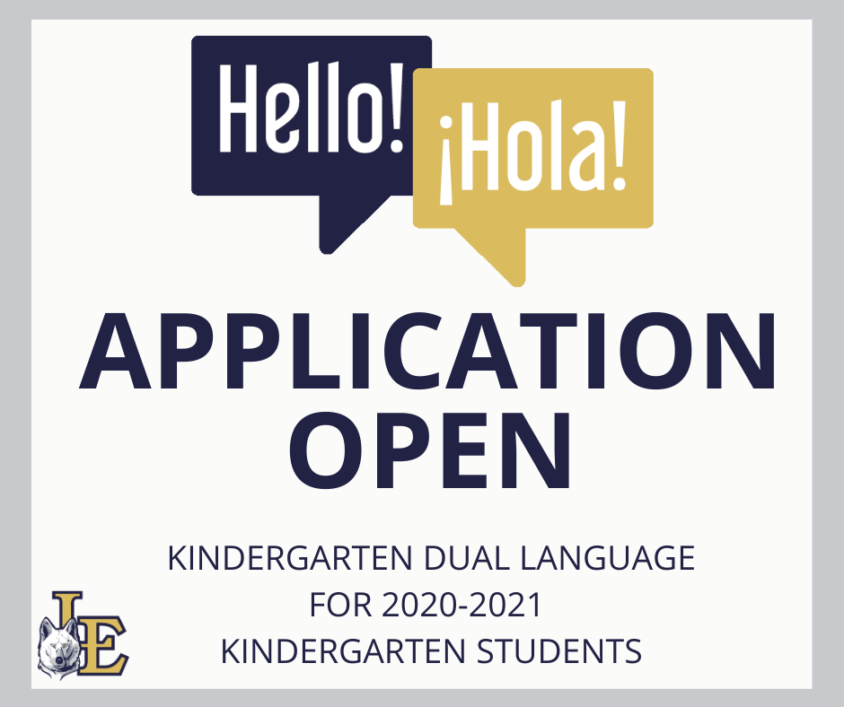 Kindergarten Dual Language Application Now Open