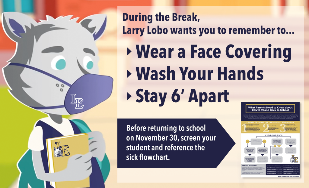 Reminders from Larry Lobo