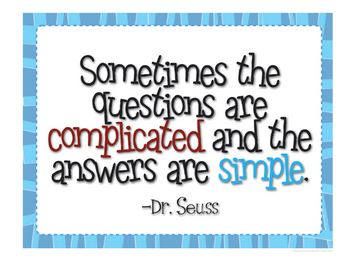 Sometimes the Answers are Simple