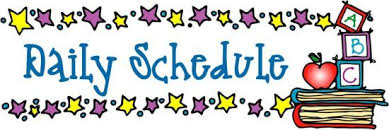Image result for schedule second grade