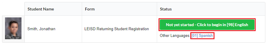 Step 2 - Open the Registration Form