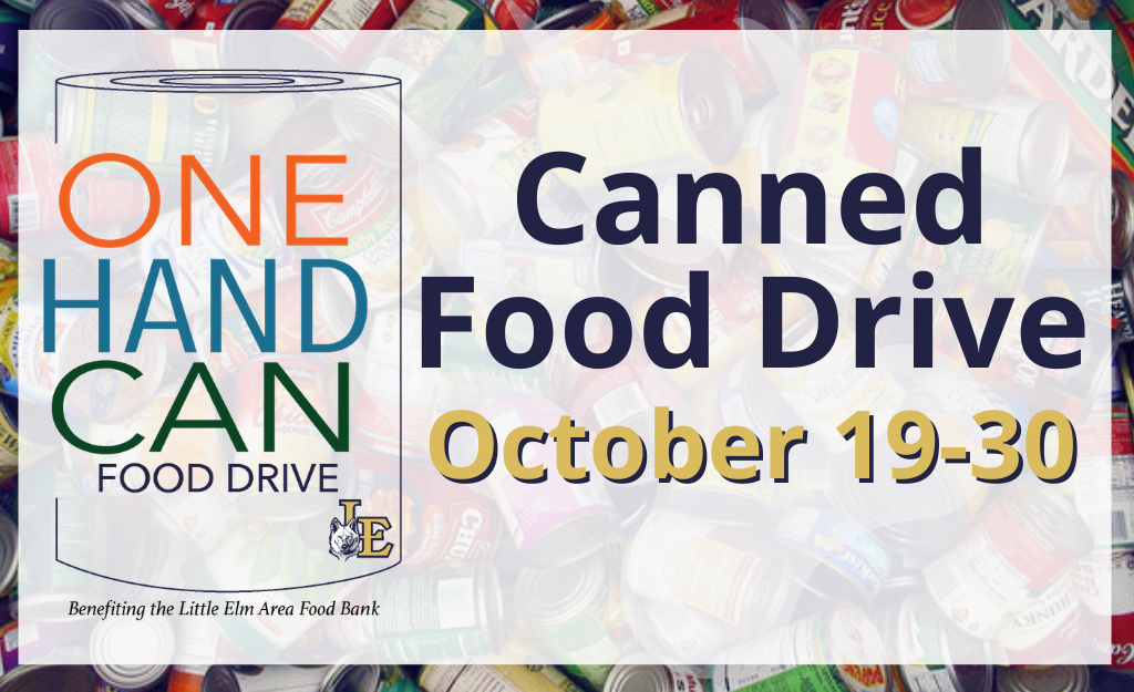 Canned Food Drive Oct. 19-30