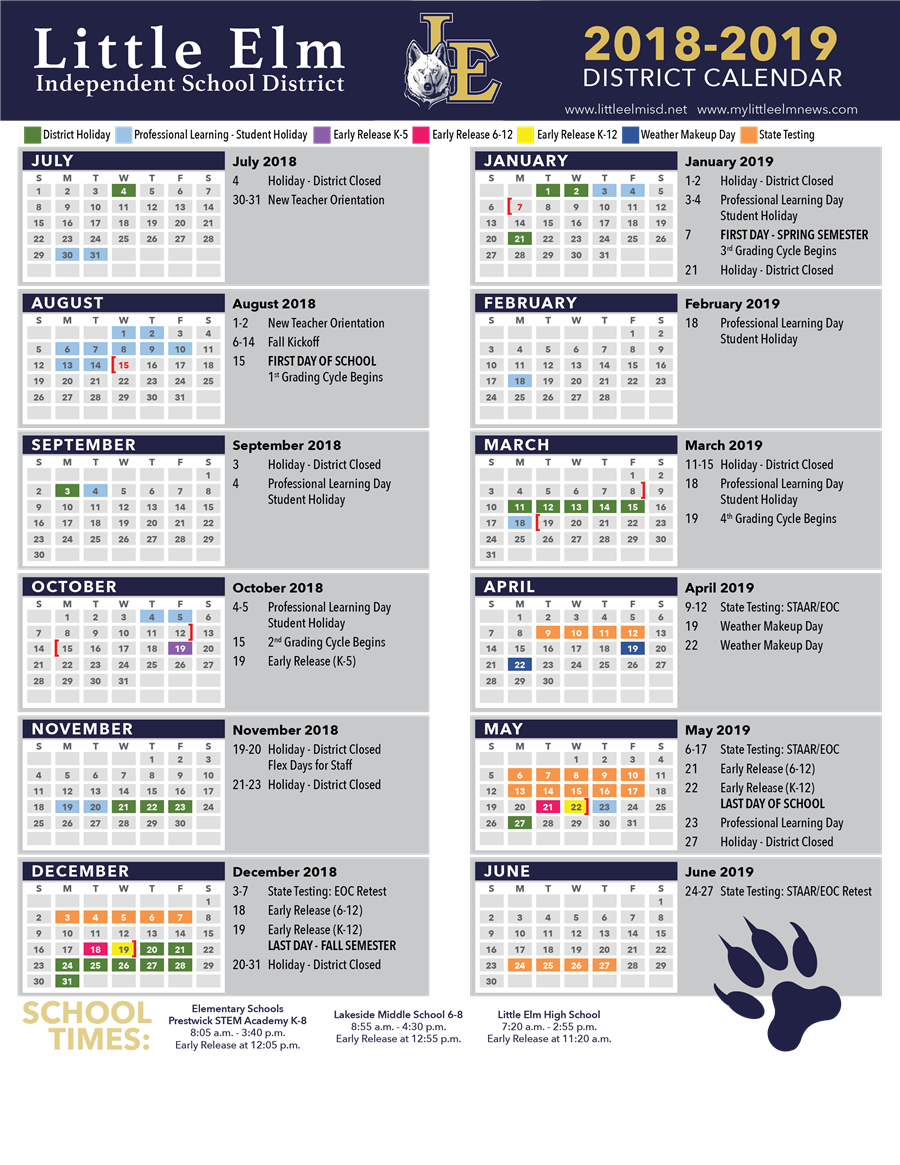 Click to view calendar pdf