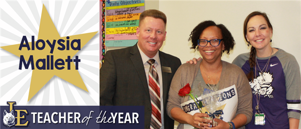 Aloysia Mallett - Teacher of the Year
