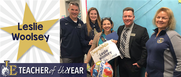 Leslie Woolsey - Teacher of the Year