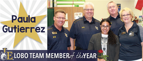 Paula Gutierrez - Lobo Team Member of the Year