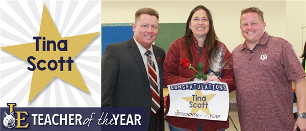 Tina Scott - Teacher of the Year
