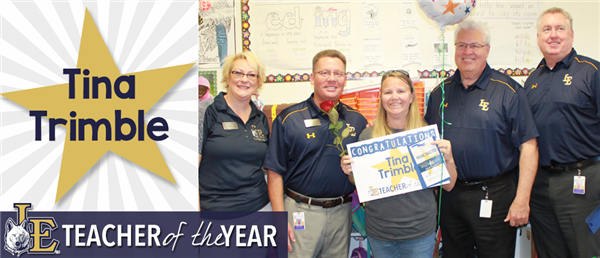 Tina Trimble - Teacher of the Year