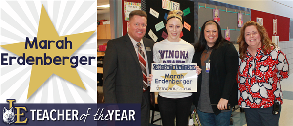 Marah Erdenberger - Teacher of the Year