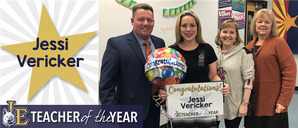 Jessi Vericker - Teacher of the Year