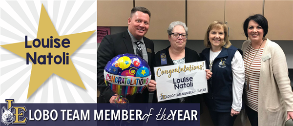 Louise Natoli - Lobo Team Member of the Year