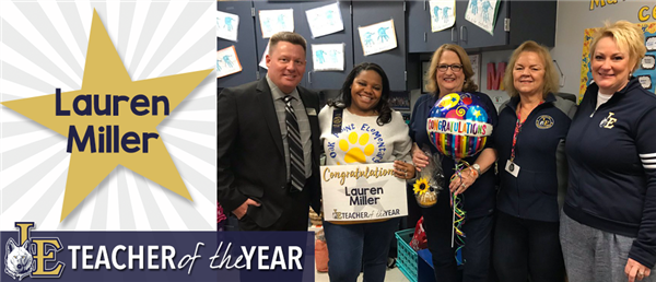 Lauren Miller - Teacher of the Year