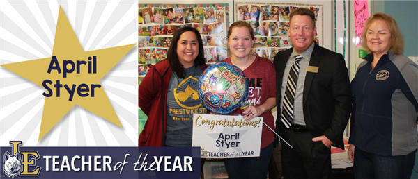 April Styer - Secondary Teacher of the Year