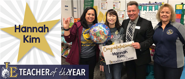 Hannah Kim - Elementary Teacher of the Year