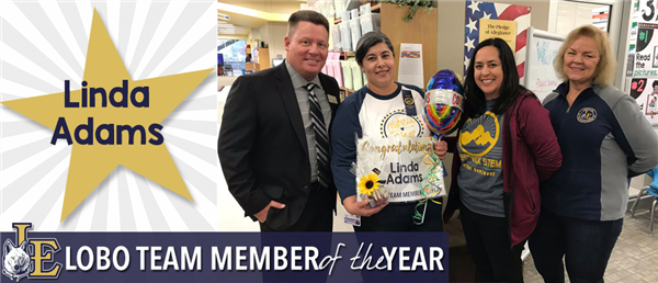 Linda Adams - Lobo Team Member of the Year