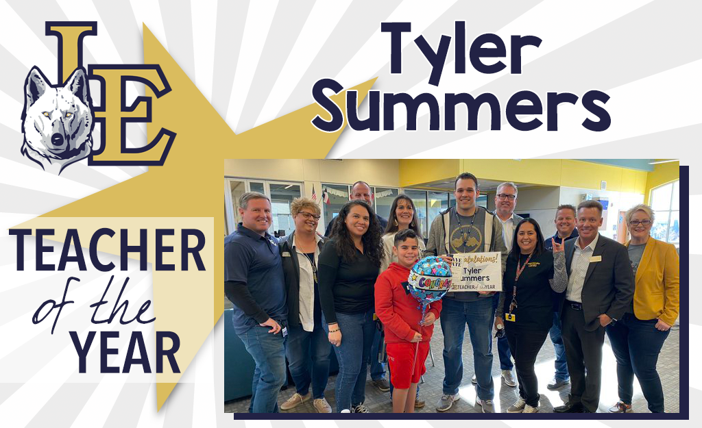 Secondary Teacher of the Year - Tyler Summers