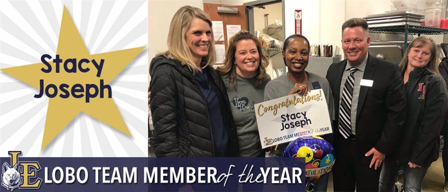 Stacy Joseph - Lobo Team Member of the Year