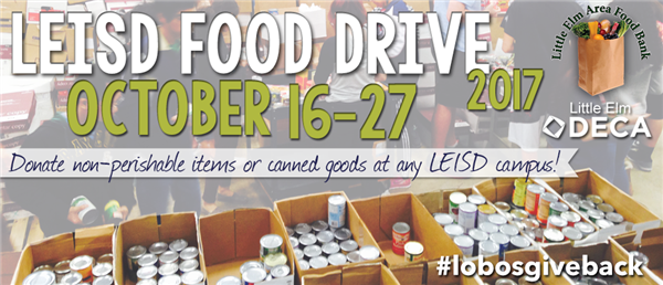 LEISD Food Drive - OCtober 16-27